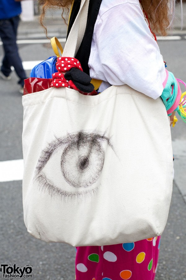 Eyeball-print Bag