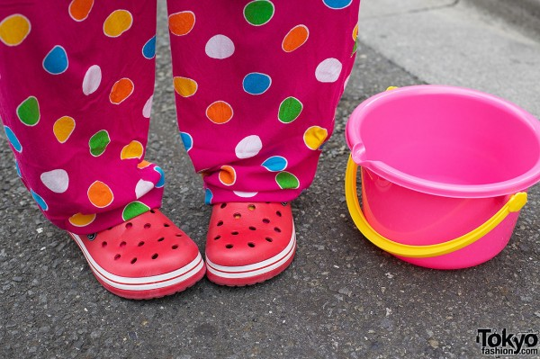 Polka Dot Pants & Thank You Mart Shoes