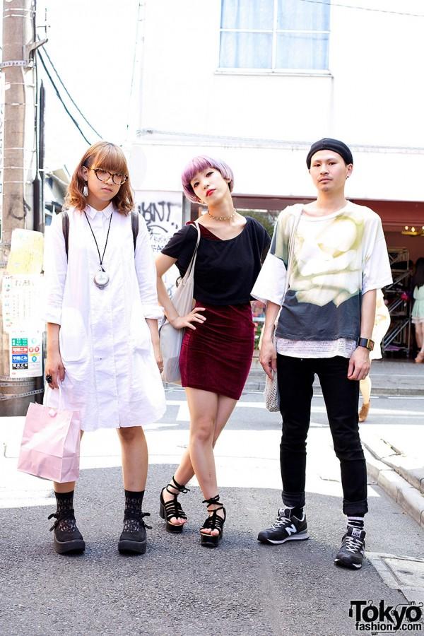 Harajuku Trio w/ Chanel, Tokyo Bopper & Lilac Bob Hairstyle