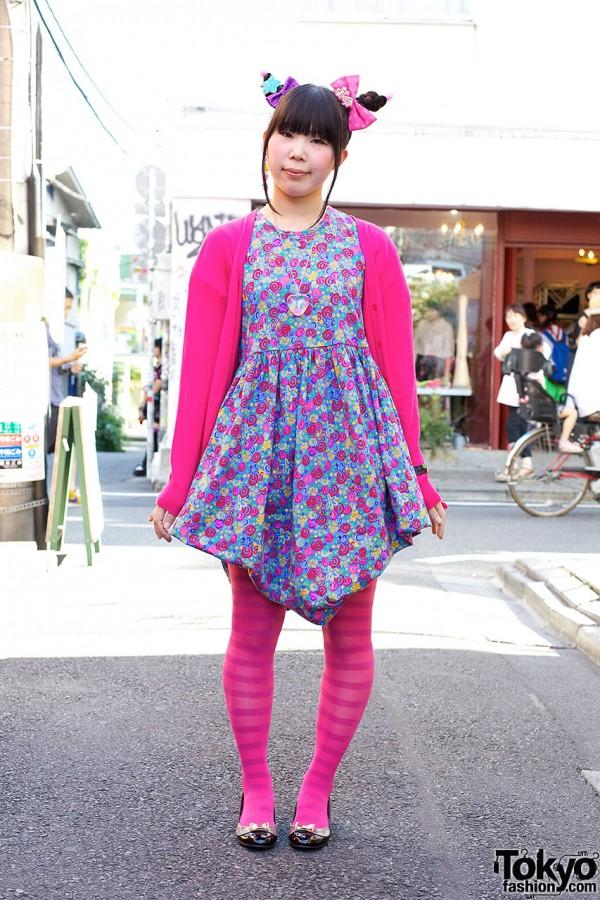 Chami's Cute Double Bun Hairstyle & 6%DOKIDOKI Accessories