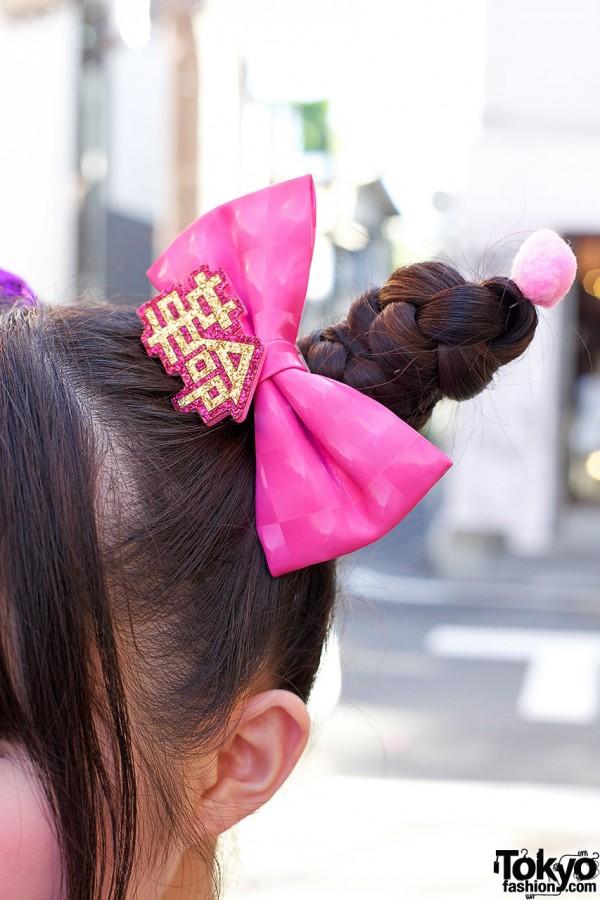 6%DOKIDOKI Pink Hair Bow