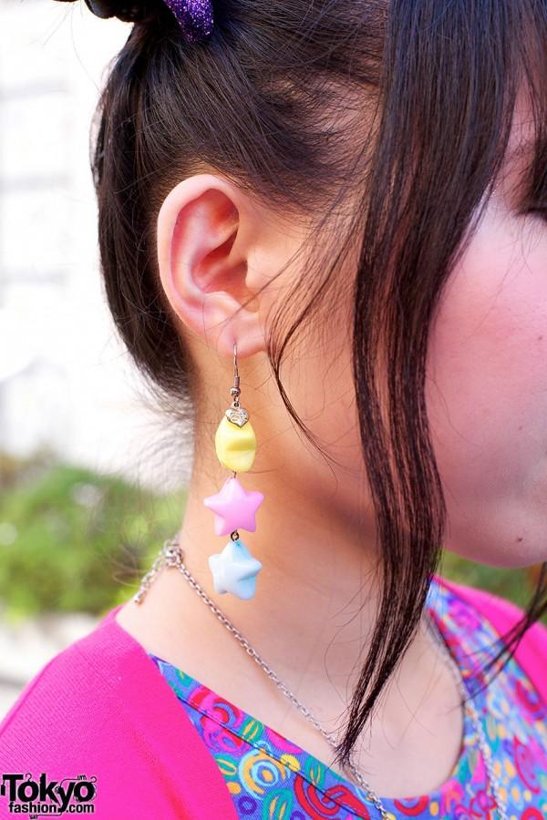 Pastel Stars Earring in Harajuku
