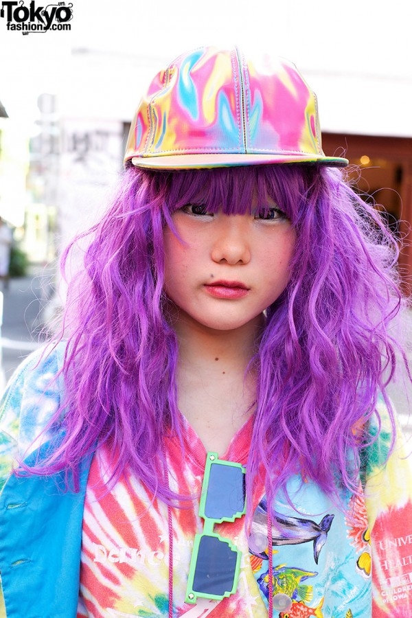 Purple Decora Hair in Harajuku