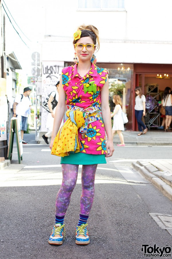 Colorful Harajuku Street Style w/ Party Baby, Village Vanguard & Kinji