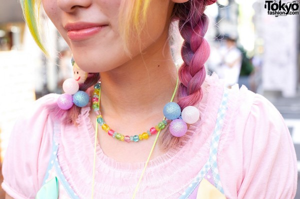 Pink Braids and Candy Necklace
