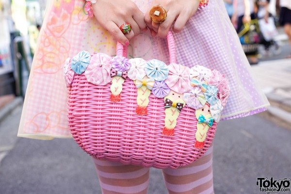 Straw Bag With Bows & Shrimp from Party Baby