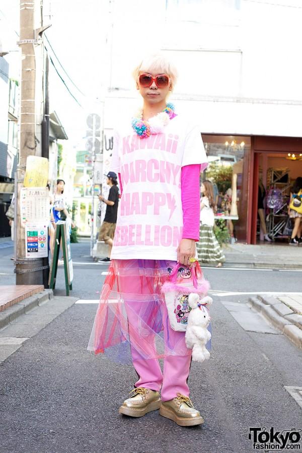 Junnyan in Harajuku w/ Pink