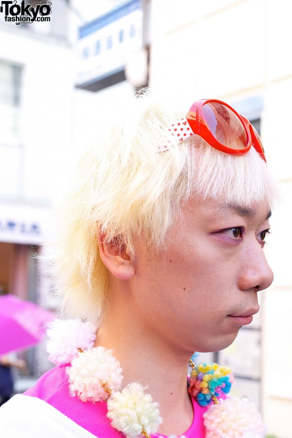 Platinum Blonde Hair in Harajuku
