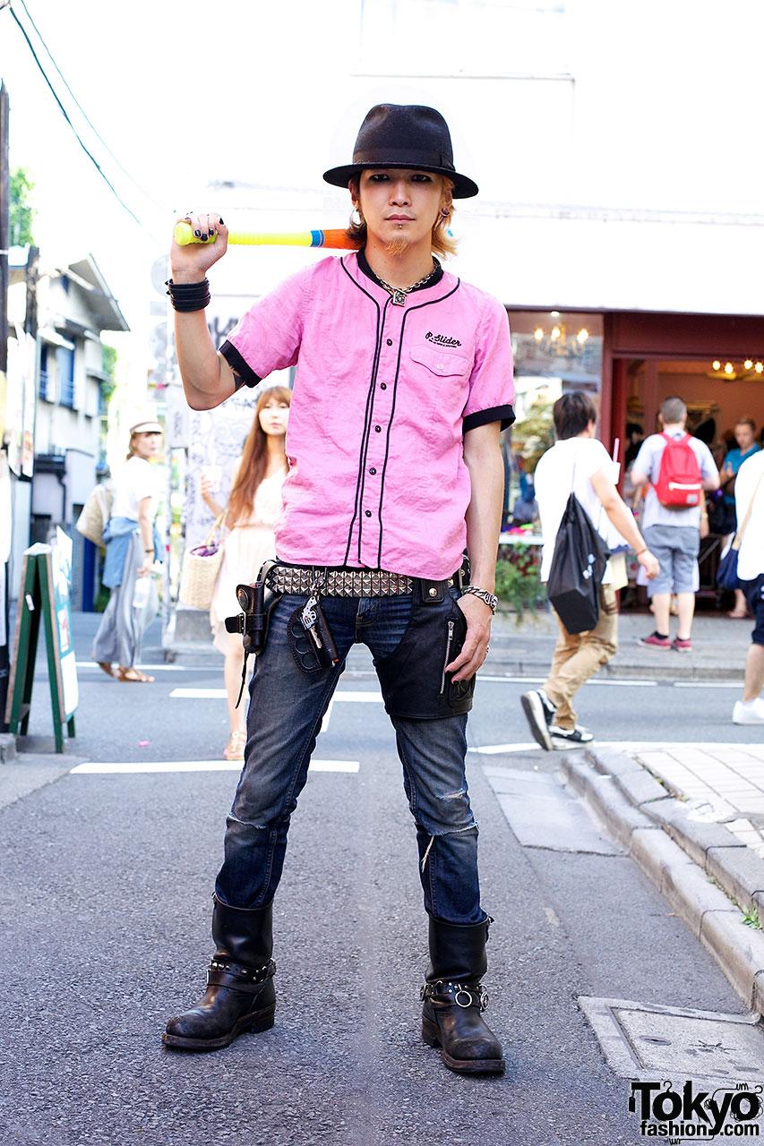 Fedor & pink Raleigh shirt in Harajuku