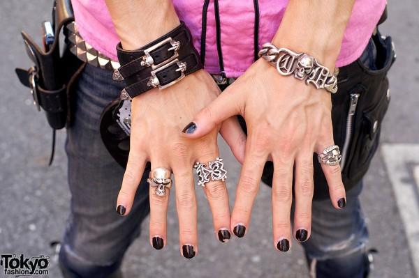 Thirteen Designs skull-themed rings & bracelets