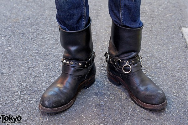 Red Wing boots w/ buckles & studs