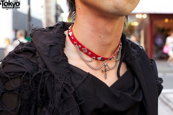 Red Spike Collar