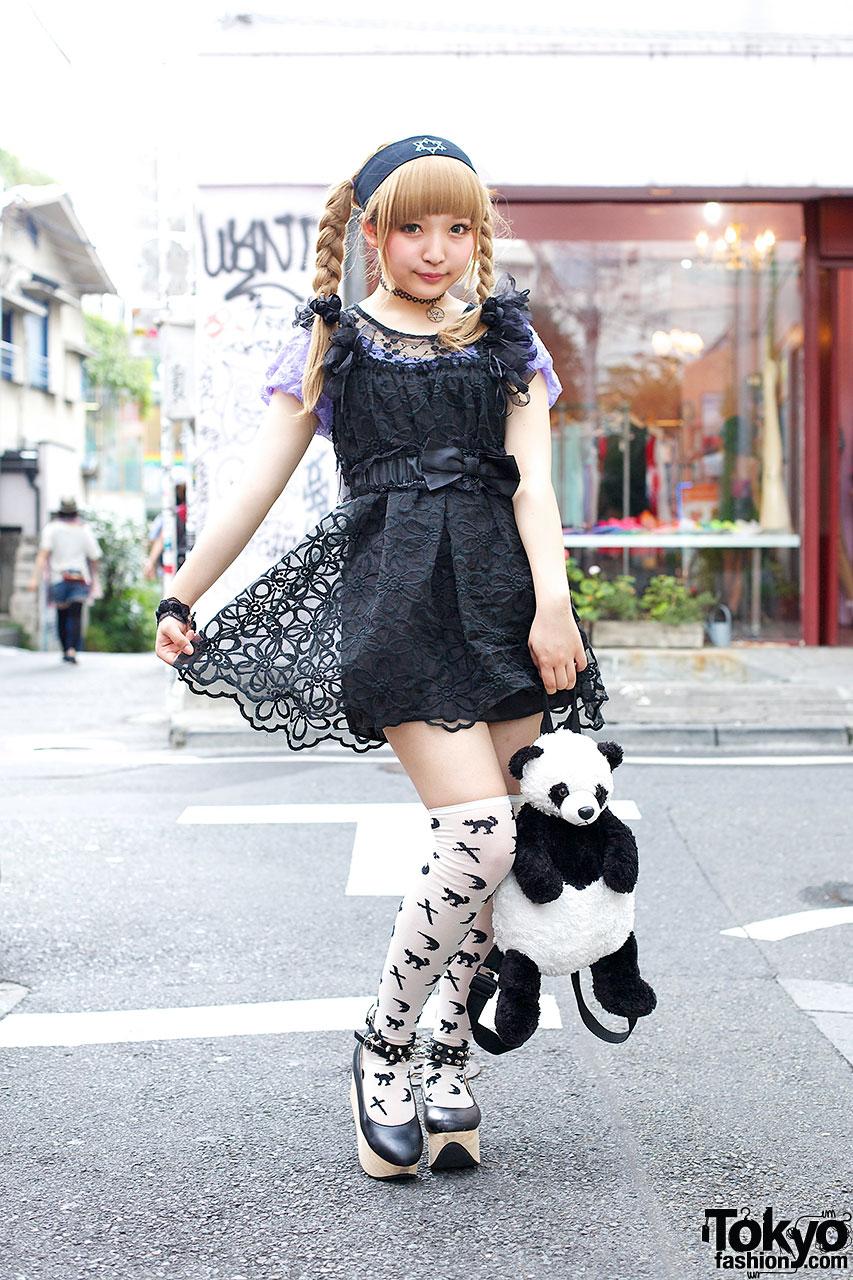 Black and White Harajuku Girl