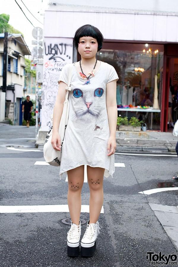 Nadia Cat Dress