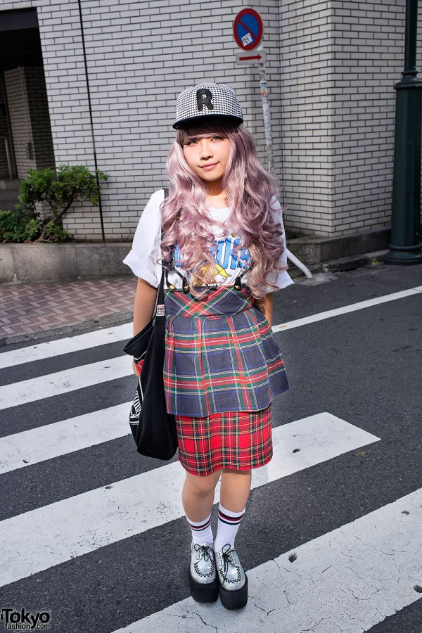 Plaid Retro Skirts in Shibuya