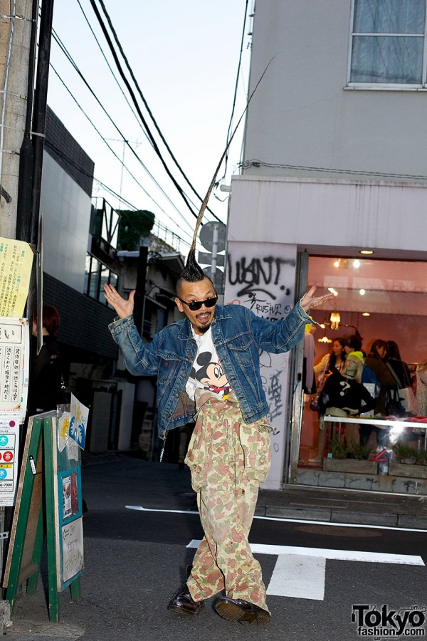 Worlds Tallest Mohawk in Harajuku