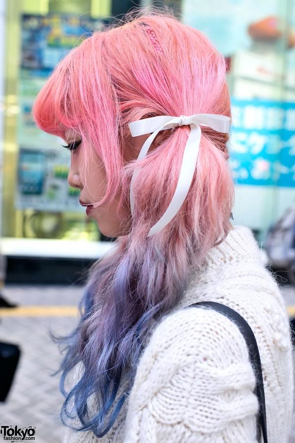Pretty Pink & Purple Hair