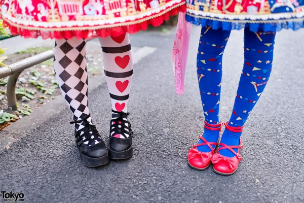Graphic Tights & Lolita Shoes