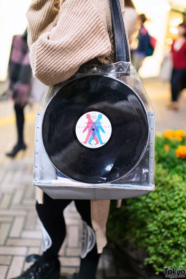 Vinyl Record Purse from Dog Harajuku