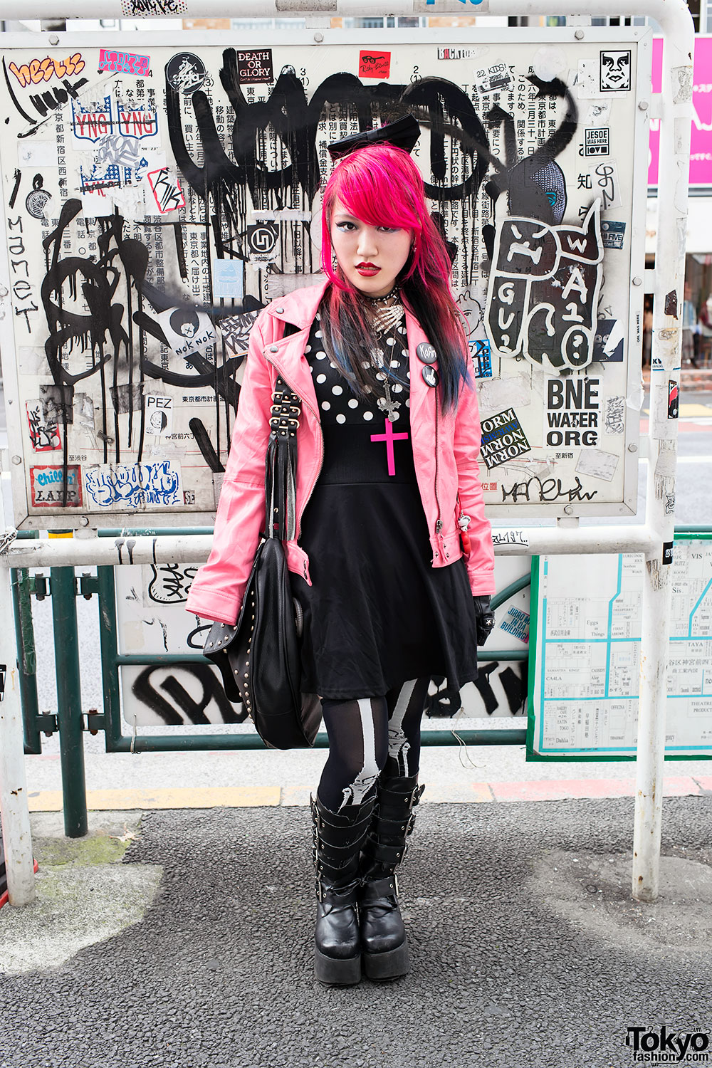 Pink Hair & Pink Leather Jacket