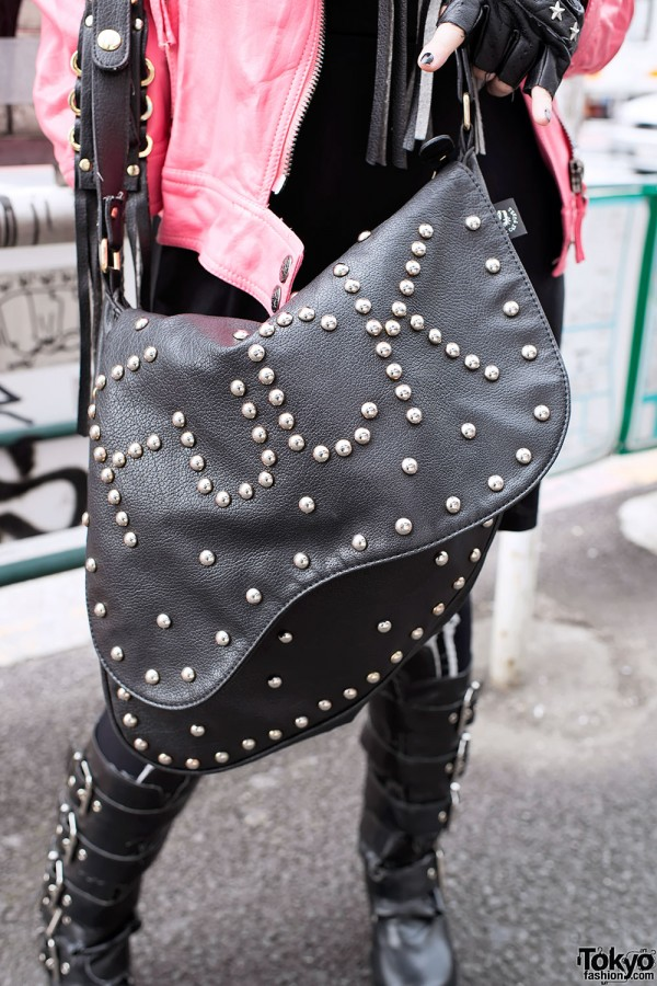 Studded Fuck Bag in Harajuku