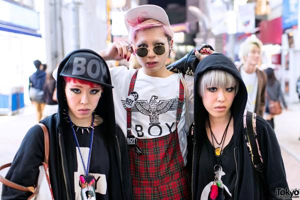 Three Stylish Japanese Friends in Shibuya