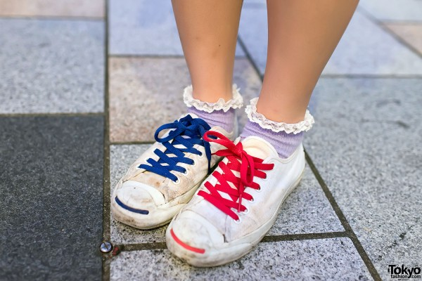 Colorful Lace Sneakers & Ruffle Socks