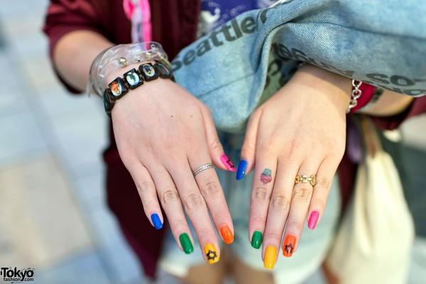 Saints Bracelet & Colorful Nail Art