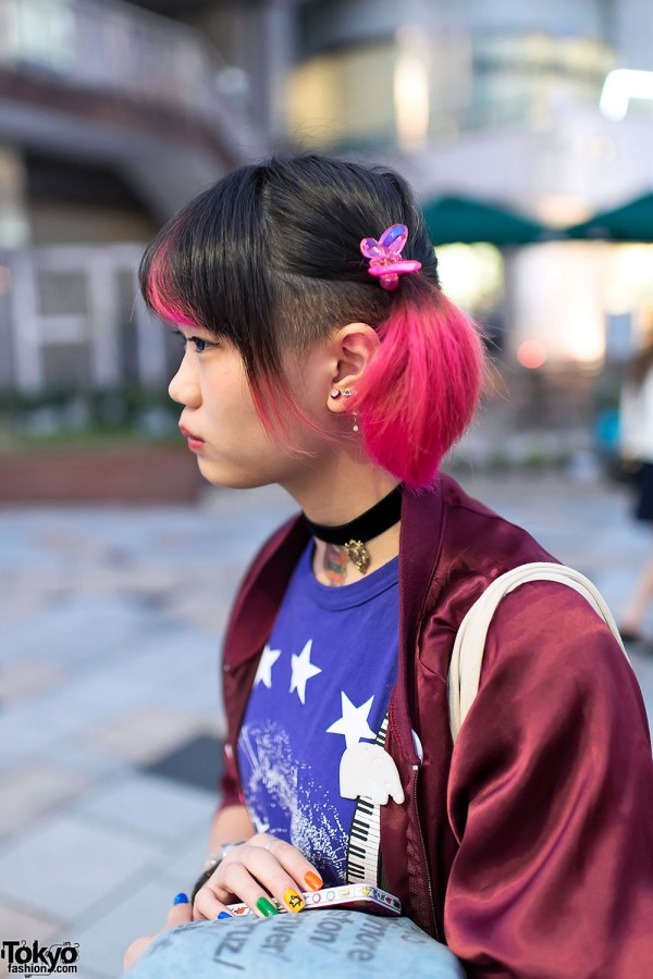 Pink Twintails Hairstyle & Butterfly Clips