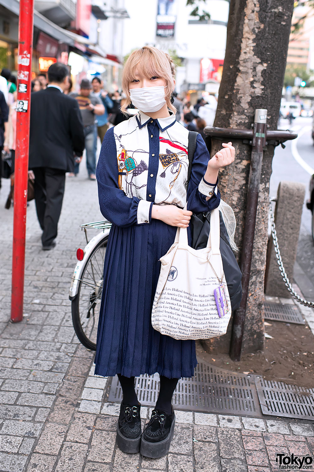 Long Pleated Skirt in Shibuya