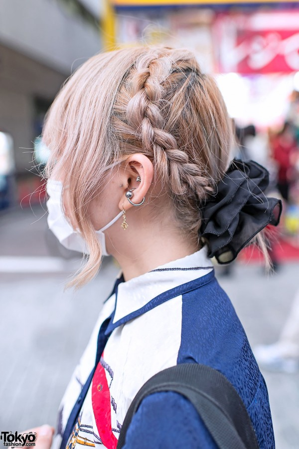 Blonde Braids & Piercings in Shibuya