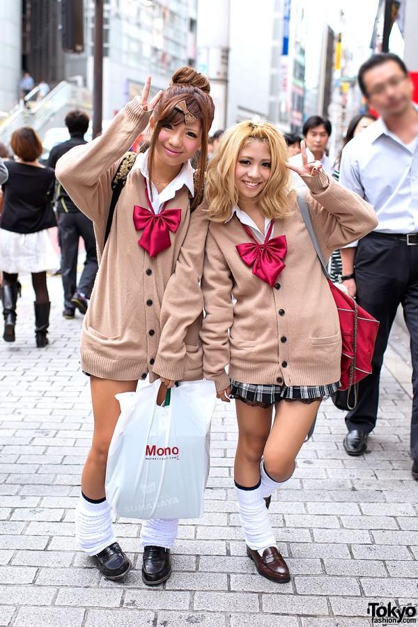 Shibuya Schoolgirls in Uniform