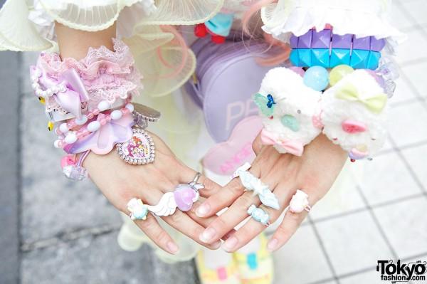 Decora Bracelets & Rings in Harajuku