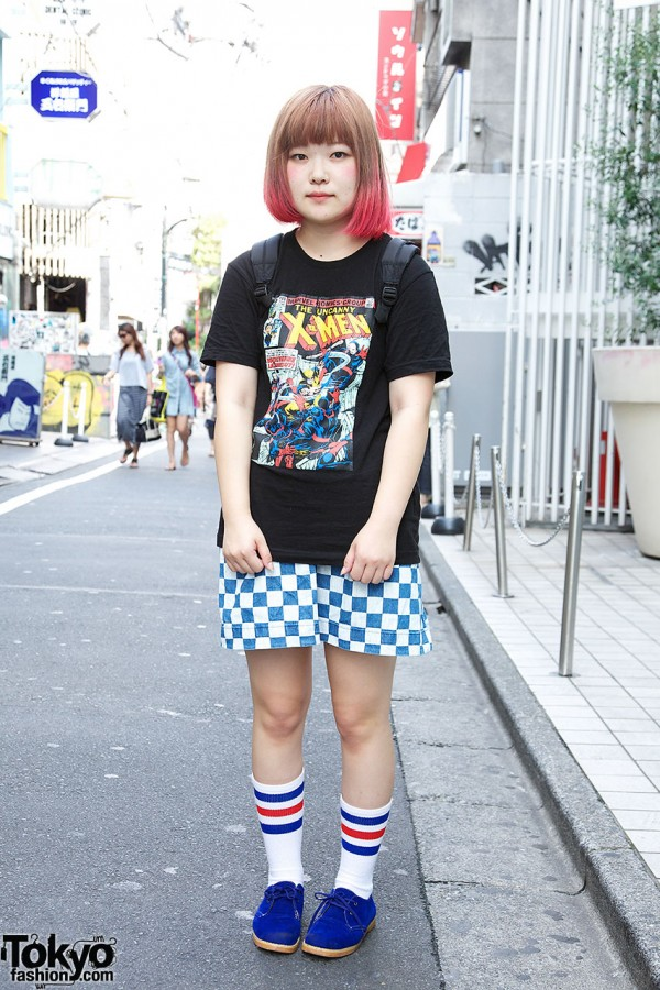 The Uncanny X-Men x Pink Ombre Hair in Harajuku
