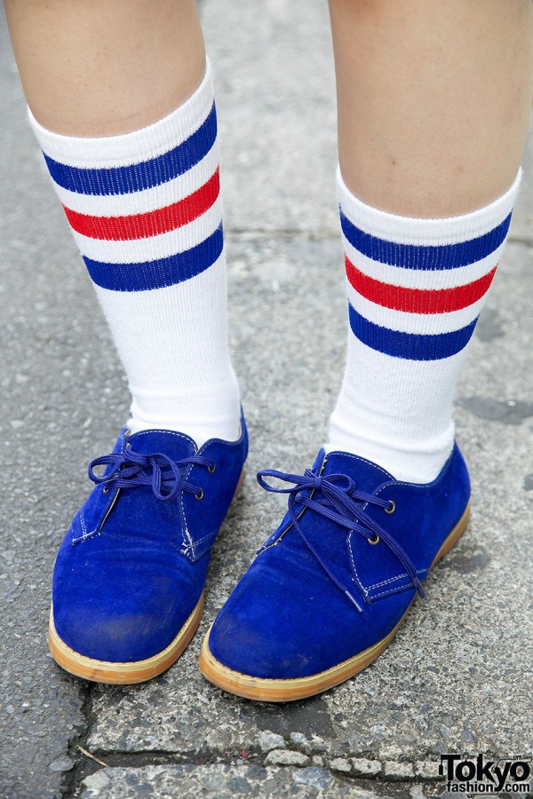 Blue Shoes and Striped Socks