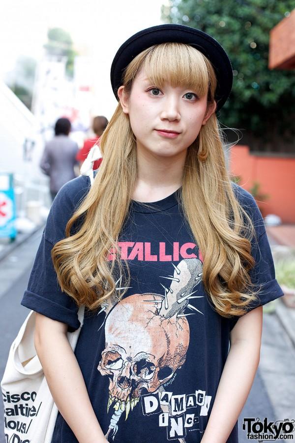Blonde Harajuku Girl x Metallica