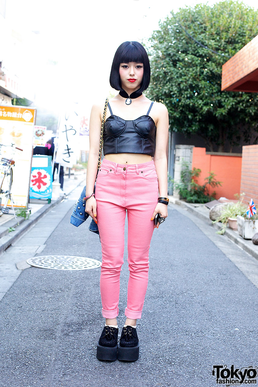 Pink Black Outfit Tokyo Fashion News
