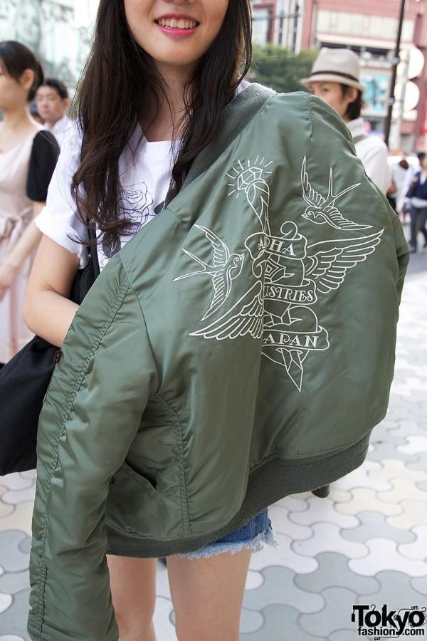 Resale Bomber Jacket in Harajuku