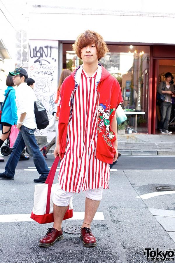 One OK Rock Fan w/ Snoopy Hoodie & Dr. Martens in Harajuku