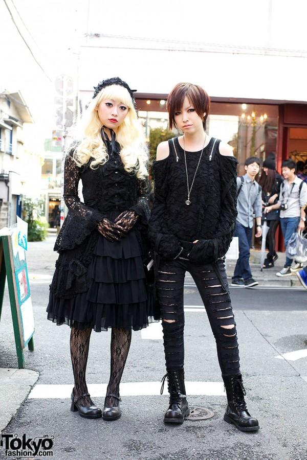 Gothic Harajuku Fashion w/ Algonquins & Metamorphose Black Lace