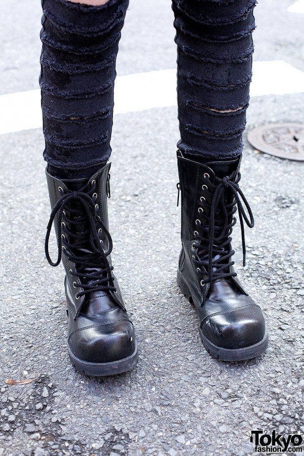 Lace up boots