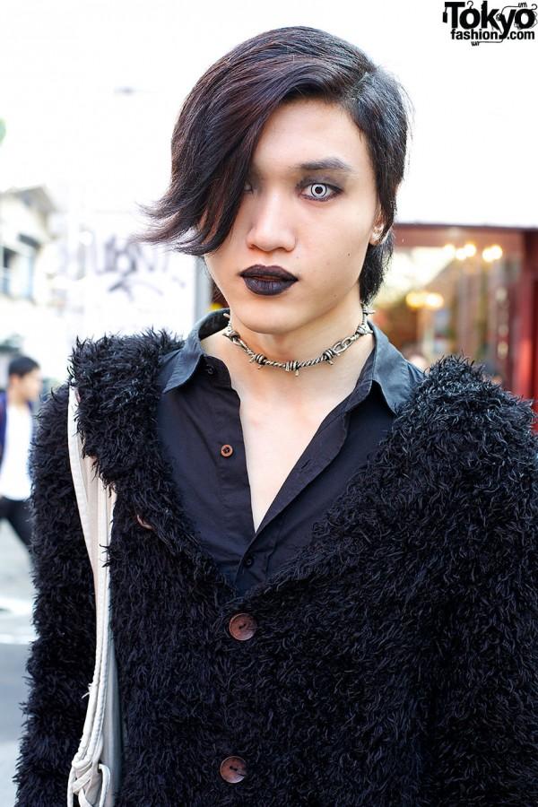 Black Lipstick Model in Harajuku