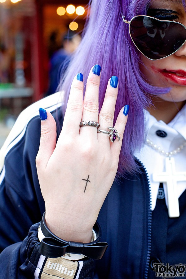 Silver Studded Ring in Harajuku