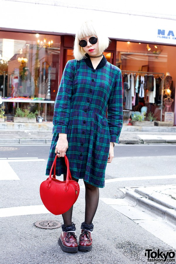 Plaid Dress from Hanjiro
