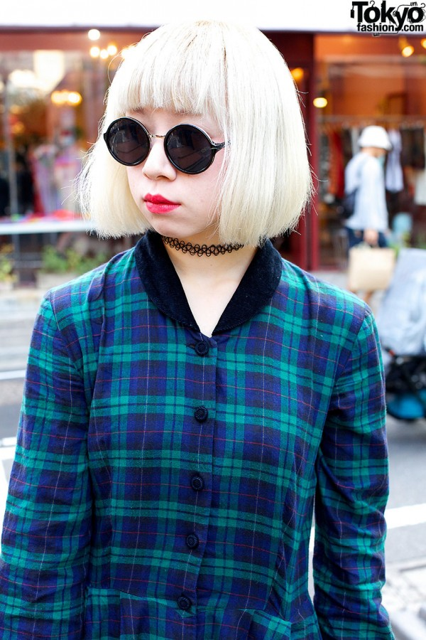 Round Sunglasses in Harajuku