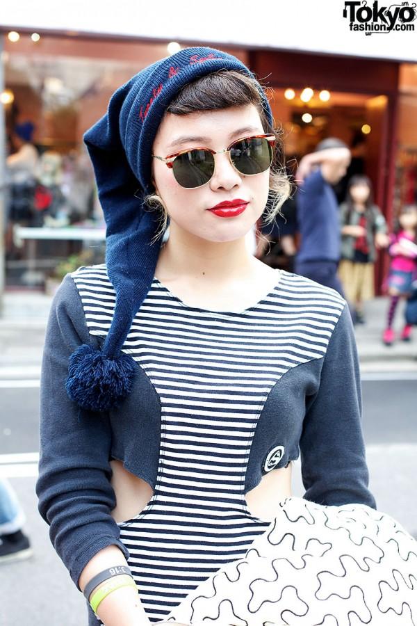 Red Lipstick & Sunglasses Harajuku