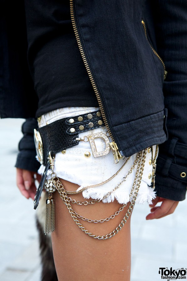 D.I.A. Belt Buckle & Short Shorts