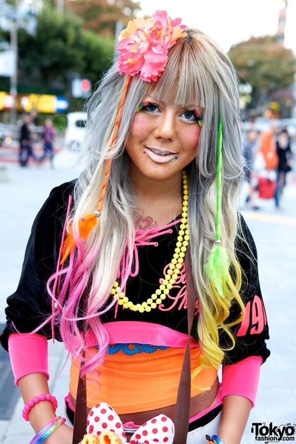 Rainbow Hair in Shibuya