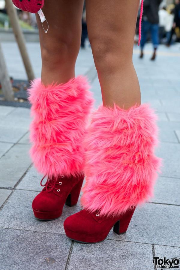 Handmade Furry Leg Warmers