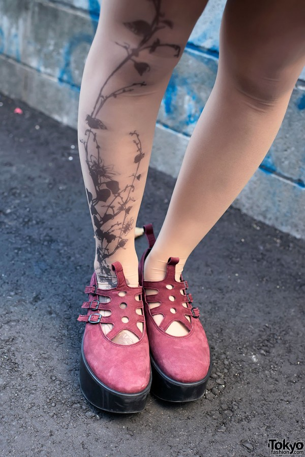 Tattoo Tights & Tokyo Bopper Shoes in Harajuku